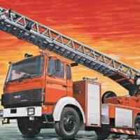 Italeri FIRE LADDER TR.IVECO-MAG.DLK 23 1:24