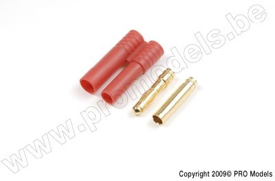 4.0mm Gold connector with plastic housing (4pcs)