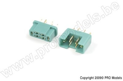 MPX gold connector, Male + Female (2pairs)