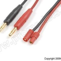 Charge lead 3.5mm gold connector, silicon wire 16 AWG(1pc)