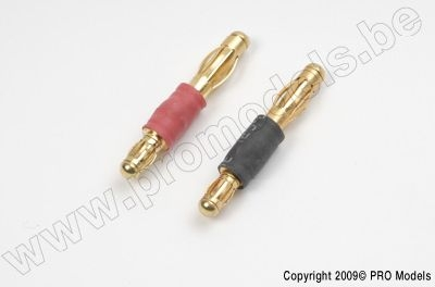 Converter 3.5mm gold to 4.0mm gold connector (1pair)