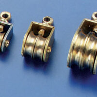 Messingblock dobbel 5mm (4 stk)