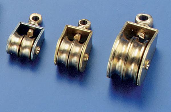 Messingblock dobbel 4mm (2stk)