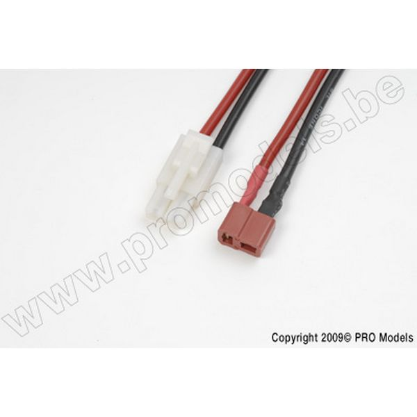 Conversion lead Tamiya Female. > Deans Female., silicon wire 14AWG (1pc)