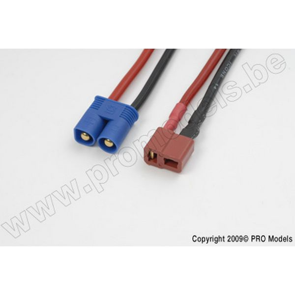 Conversion lead, E-flite Male > Deans Male, Silicon wire 14AWG (1pc)