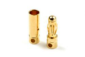 "4mm gold connector ""short"" Male + Female (4paar"