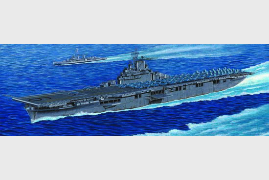 U.S.S. Aircraft Carrier Essex CV9 Plastic Model Military Ship Kit 1/350 Scale