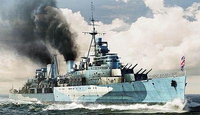 HMS Belfast British Light Cruiser 1942 Plastic Model Military Ship 1/350 Scale