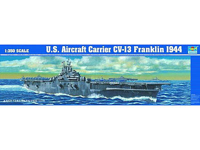 USS Franklin CV13 Aircraft Carrier 1944 Plastic Model Military Ship 1/350 Scale