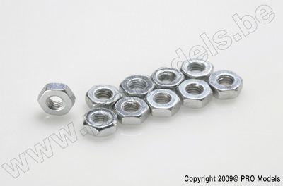 Tynn mutter M4, steel, (10stk)