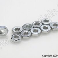 Tynn mutter, M2, Steel (10pcs)