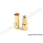 3.5MM GOLD CONNECTOR MALE + FEMALE (4PAIRS)